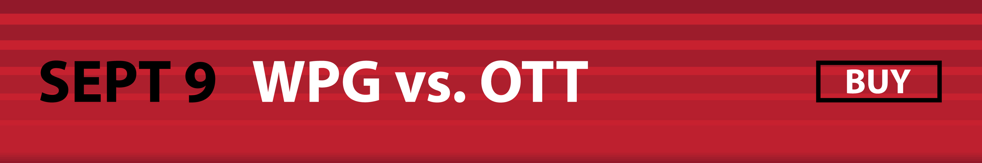 September 9 - Winnipeg Jets vs. Ottawa Senators